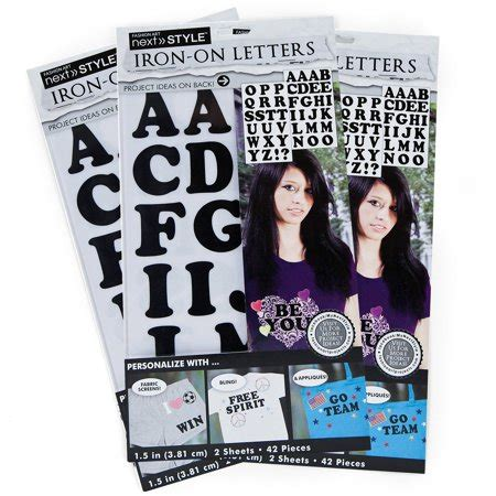 iron on letters walmart 2 next style 1 5 quot black iron on letters ke style 3pk by