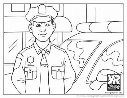 Police Officer Coloring Officers