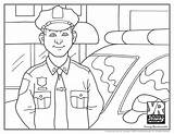 Police Officer Coloring Officers Young sketch template