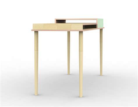 bureau bouleau bureau plateau multiplis de bouleau et laque