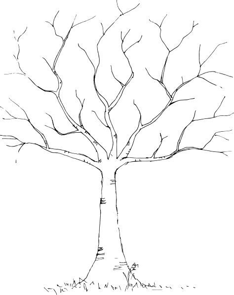 tree template black and white wedding diy fingerprint tree template to download print
