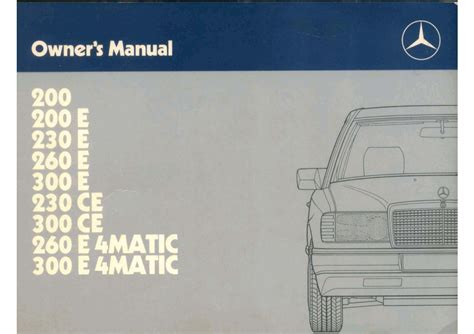 1990 Mercede 300e Fuse Diagram by Mercedes 300e Owners Manual By Mmamakas Issuu