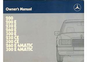 Mercedes 300e Owners Manual By Mmamakas