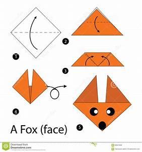 Faire Des Origami : instructions tape par tape comment faire le fox de l 39 origami a illustration de vecteur ~ Nature-et-papiers.com Idées de Décoration