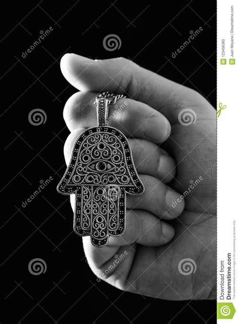 Oude Hamsaamulet Of Hand Van Fatima Stock Foto