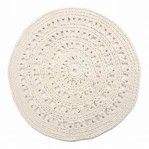 tapis rond crochet ecru naco design enfant With tapis rond design