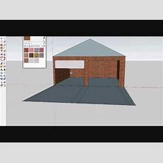 How To Make A Garage Using Google Sketchup  Youtube