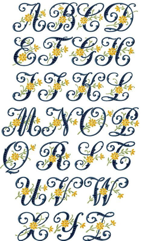 floral cutwork alphabet