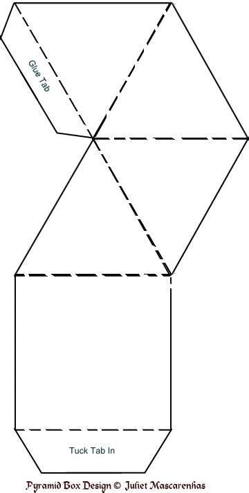 images  pyramid template printable  folds