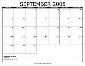 Sept 2020 Calendar Printable 2008 Free Printable Calendars Free Printable Calendars