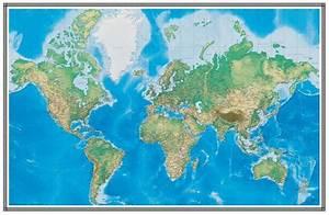 Swiftmaps World Map Wallpaper Wall Mural Geophysical 3d