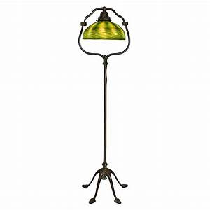 tiffany studios favrille quotharpquot floor lamp for sale at 1stdibs With tiffany harp floor lamp