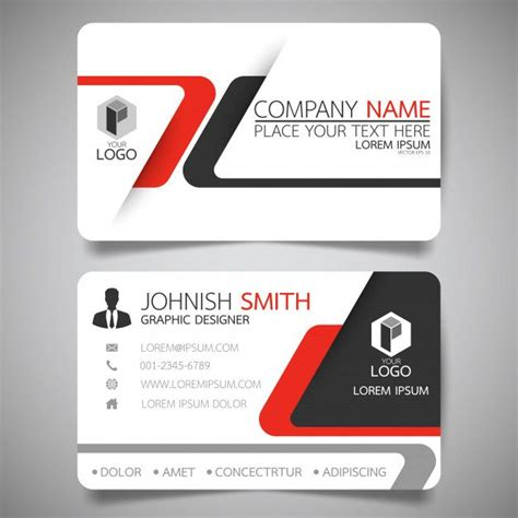 red  black layout business card template business
