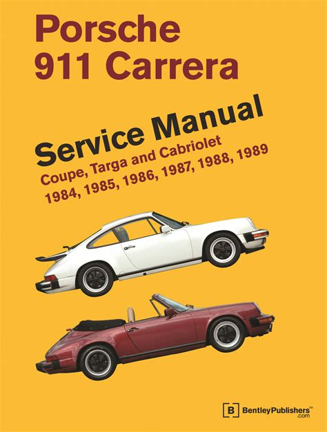 online car repair manuals free 1988 porsche 911 parking system front cover porsche repair manual 911 carrera coupe targa and cabriolet 1984 1989