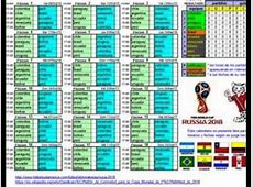 fixture en excel eliminatoria rusia 2018 YouTube
