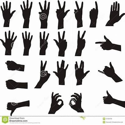 Hand Signals Vector Assorted Silhouette Gesture Ok