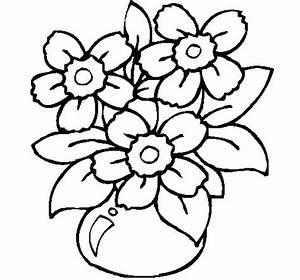 Vaso Con Fiore Da Colorare