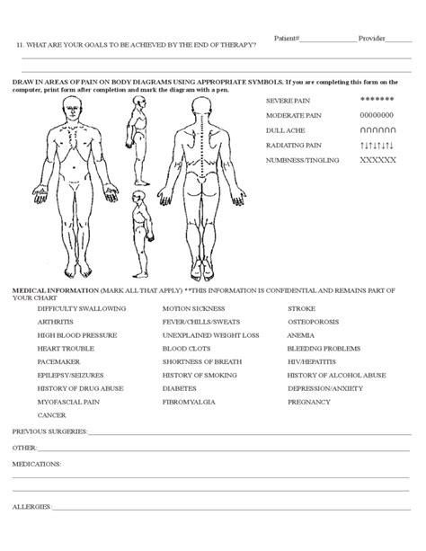 physical therapy evaluation form sample