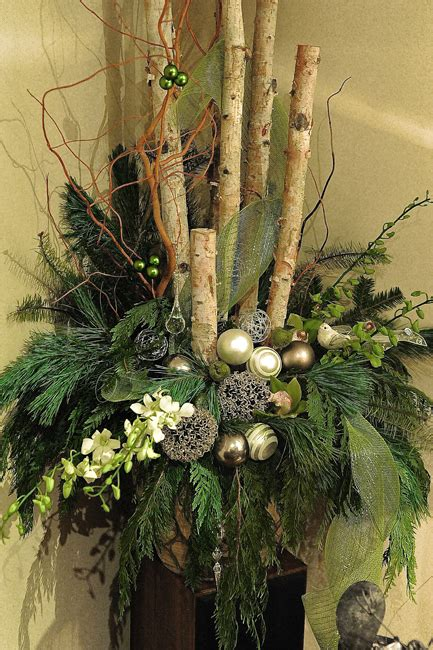 christmas urns outdoors google search