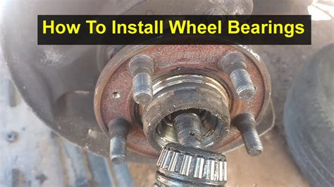 wheel bearing installation   vehicles  red block