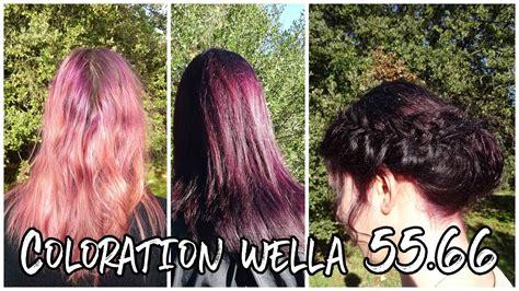 coloration violet wella  pre pigmentation youtube