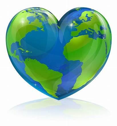Heart Globe Shape Earth Clipart Healthy Travel