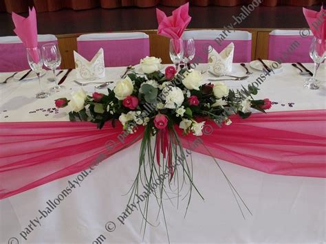 party table centerpieces wedding stage  decorations
