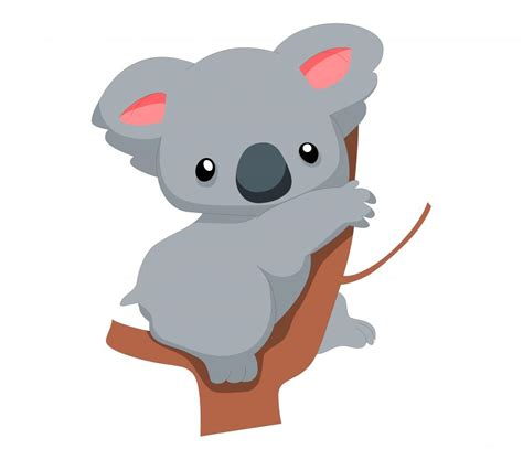cute baby koala cartoon wallmonkeyscom baby