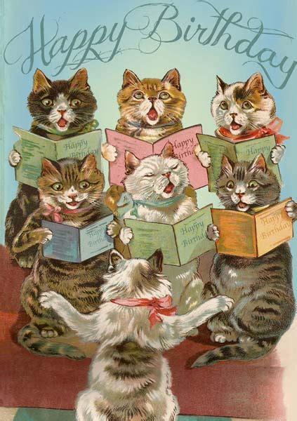 madame treacle cat chorus birthday card mthb