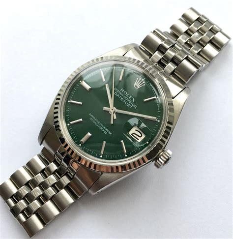 Serviced Rolex Datejust Automatic green dial | Vintage ...