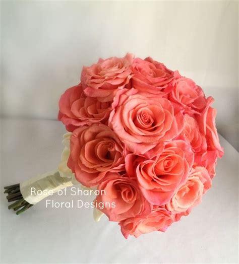 Coral Rose Bouquet Wedding Pinterest Rose Bouquet