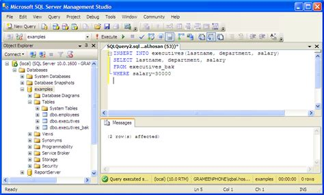 sql insert into new table exles insert mssql rows columns from another table