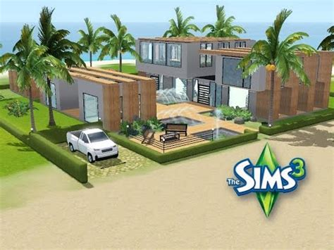 Modernes Haus Let S Build by Sims 3 Haus Bauen Let S Build Modernes Strandhaus