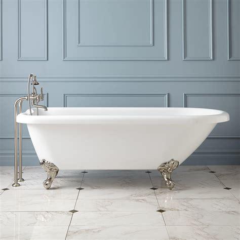 """70"""" Hoyt Acrylic Clawfoot Tub  Modern Feet Bathroom"""