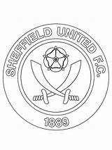 Sheffield United Fc Coloring Pages Football Total Nice English sketch template