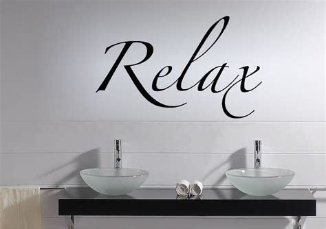 relax text quotes wall stickers adhesive wall sticker