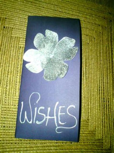 silver  purple handmade birthday card
