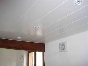 emejing poser un faux plafond pvc salle de bain With lambris pvc mur salle de bain