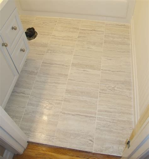groutable vinyl tile in bathroom frugal family times how to install peel and stick vinyl