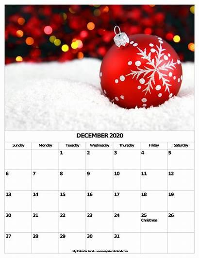 Calendar December Christmas Blank Printable Monthly Themes