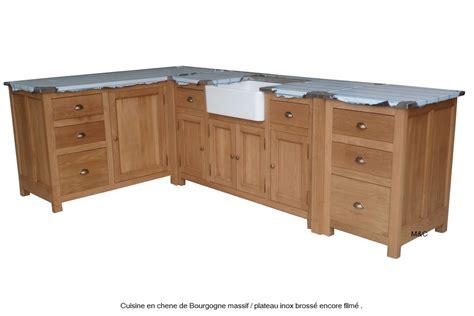 evier cuisine angle meuble sous evier de cuiine en bois de chene massif