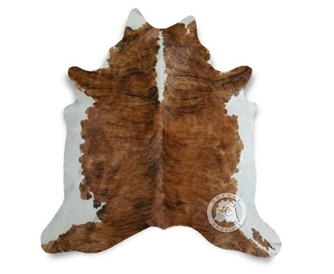 Cowhide Leather by New Cowhide Rug Leather Brindle White Backbone 6