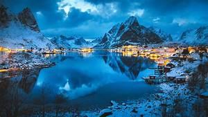 Nature, Landscape, Mountains, River, Snow, Snowy, Mountain