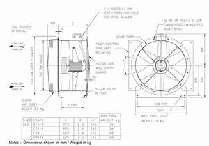 56jm  20  4  6  28  1ph Long Cased Axial Flow Extract Fan By