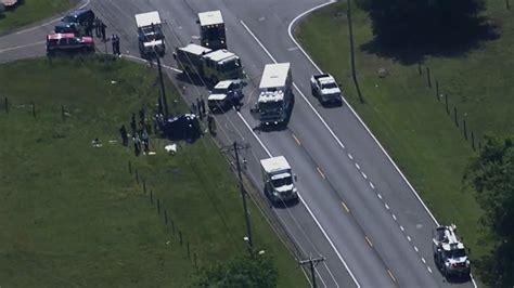 killed  car crash involving dump truck  maryland wjla