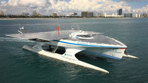 Largest Boat by Largest Solar Powered Boat Completes Around The World