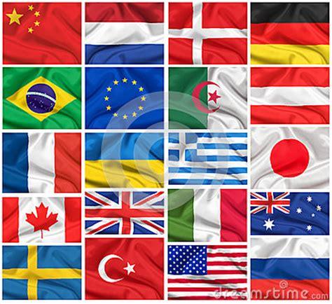 flags set usa united kingdom france brazil germany