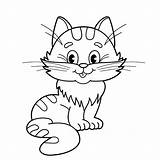 Cat Cartoon Coloring Pages Getdrawings sketch template