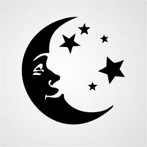 Crescent moon and stars | Vinyl Ideas-Images | Pinterest ...