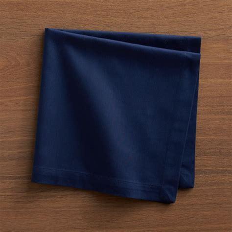 fete navy blue cloth napkin crate  barrel